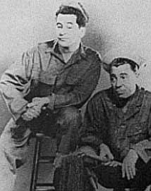 Hal March and Tom D'Andrea in The Soldiers